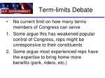 term limits debate