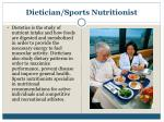 dietician sports nutritionist