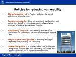 policies for reducing vulnerability