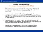 strategic recommendations to increase private investments into rets