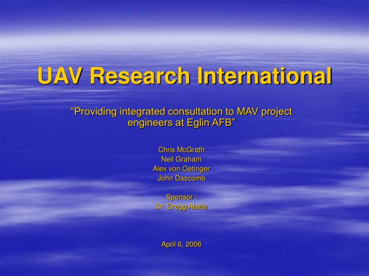 uav research international n.