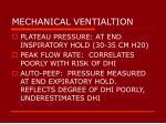 mechanical ventialtion