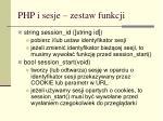 php i sesje zestaw funkcji1