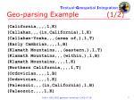 geo parsing example 1 2
