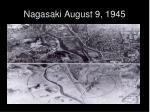 nagasaki august 9 1945