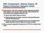 jmu component steven evans pi tobacco prevention research center