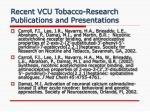 recent vcu tobacco research publications and presentations1
