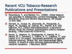 recent vcu tobacco research publications and presentations4
