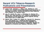 recent vcu tobacco research publications and presentations6