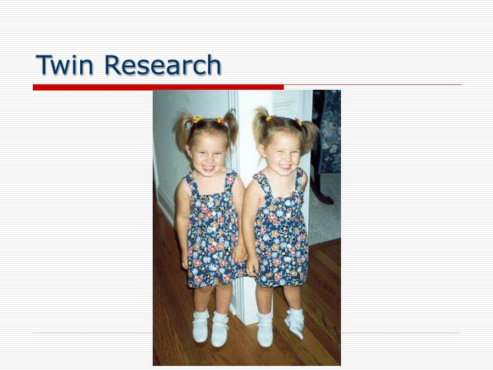 Twin Research