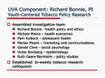 uva component richard bonnie pi youth centered tobacco policy research