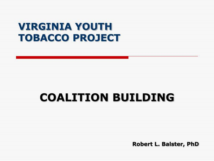 Virginia youth tobacco project