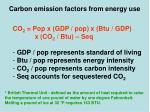 carbon emission factors from energy use