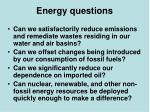 energy questions