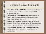 common email standards