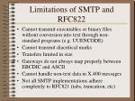 limitations of smtp and rfc822