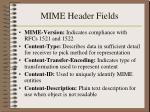 mime header fields
