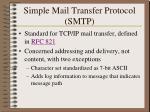 simple mail transfer protocol smtp