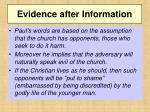 evidence after information1