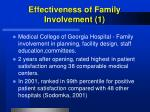 effectiveness of family involvement 1