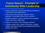 future search example of community wide leadership