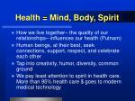 health mind body spirit