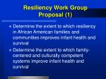resiliency work group proposal 1