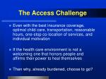 the access challenge