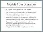 models from literature