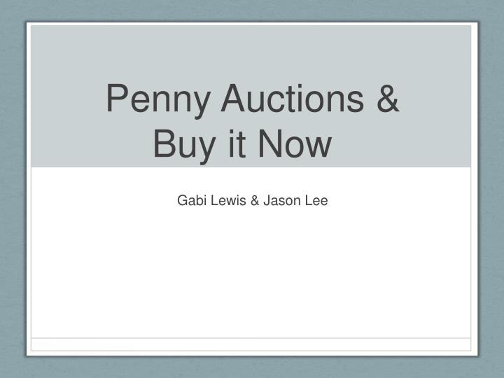 penny auctions buy it now n.