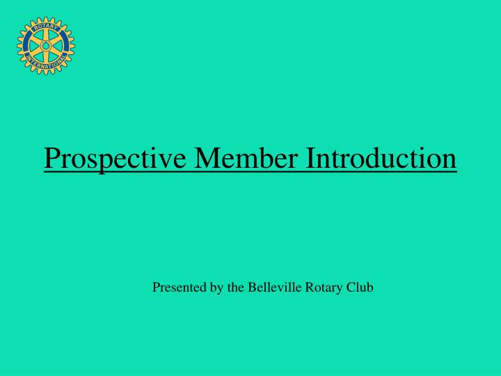 presented by the belleville rotary club n.