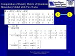 computation of density matrix of quantum heisenberg model with two nodes