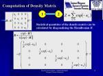computation of density matrix