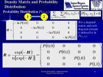 density matrix and probability distribution