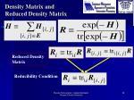 density matrix and reduced density matrix1