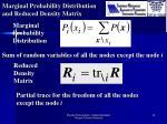 marginal probability distribution and reduced density matrix