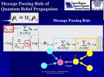 message passing rule of quantum belief propagation