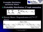 probability distribution and density matrix