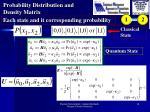probability distribution and density matrix1