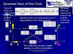 quantum state of one node1