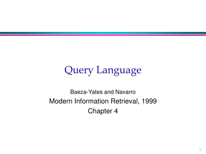 query language n.