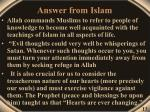 answer from islam