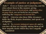 example of justice at judgment