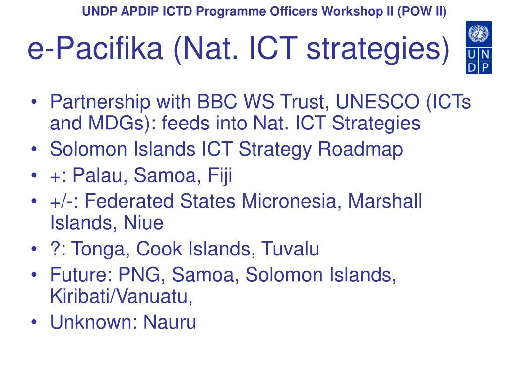 e-Pacifika (Nat. ICT strategies)