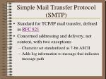 simple mail transfer protocol smtp