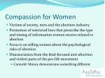 compassion for women