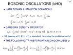 bosonic oscillators bho