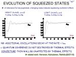 evolution of squeezed states
