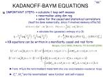 kadanoff baym equations
