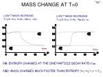 mass change at t 0